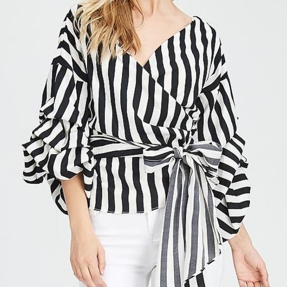 63bd8a4b0b6 Striped Surplice Top (Sale Item)